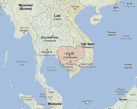 Carte Cambodge