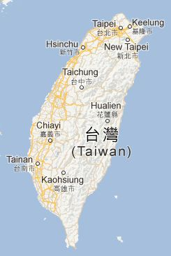 Carte Taiwan