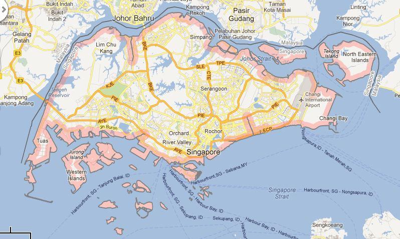 Carte Singapour