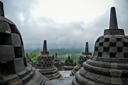photo temple borobudur java indonésie