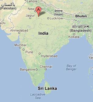 carte inde Inde: admirer le Taj Mahal