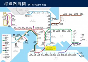 plan métro hong kong