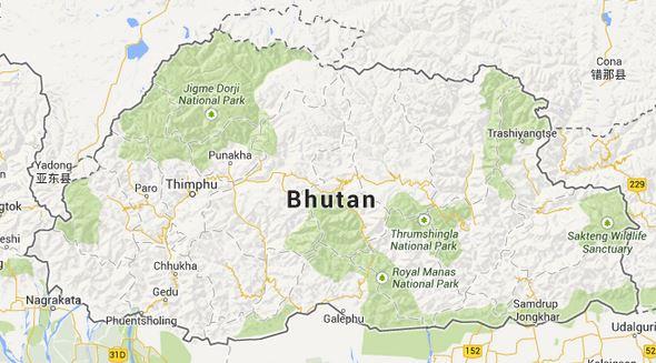 Carte Bhoutan