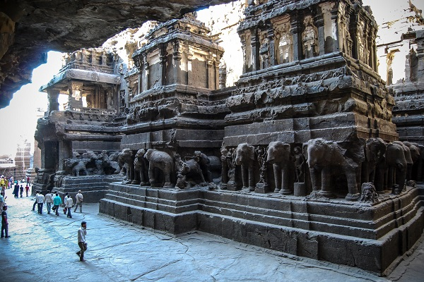 Grottes d'Ellora Inde Photo