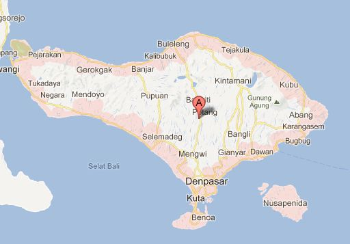 map Bali indonesia