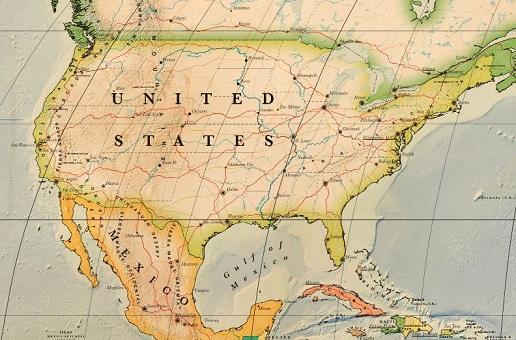 carte des etats unis d'amérique