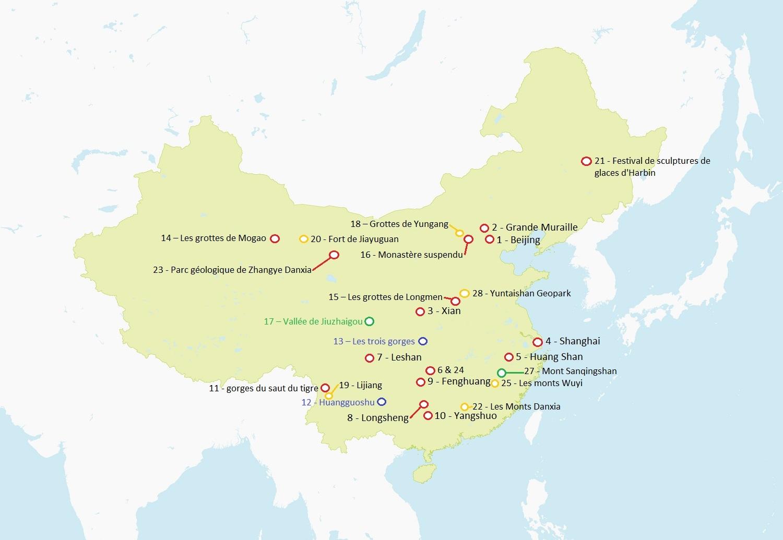 Carte de la chine détaillée à imprimer