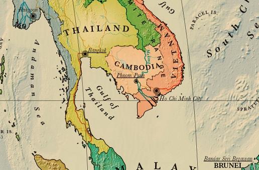 carte cambodge détaillée