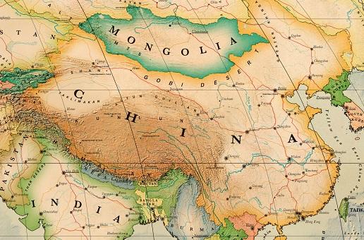 carte de la chine détaillée