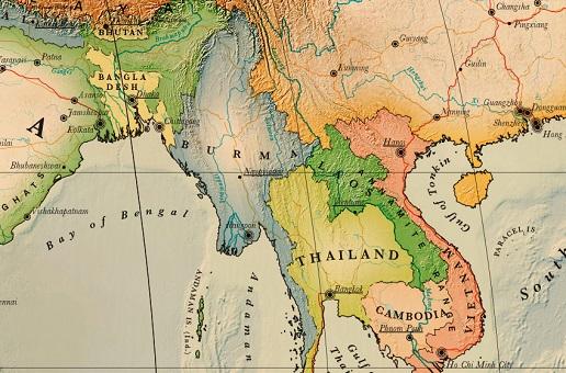 Carte De La Birmanie Detaillee A Imprimer Noobvoyage Fr