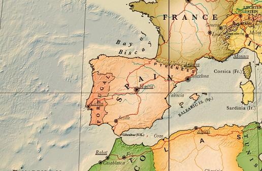 carte espagne détaillée