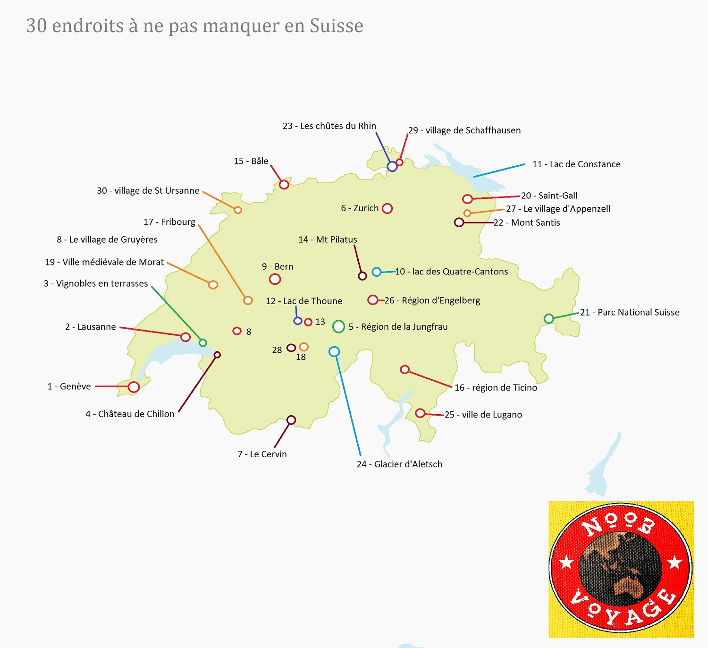 carte de la suisse détaillée