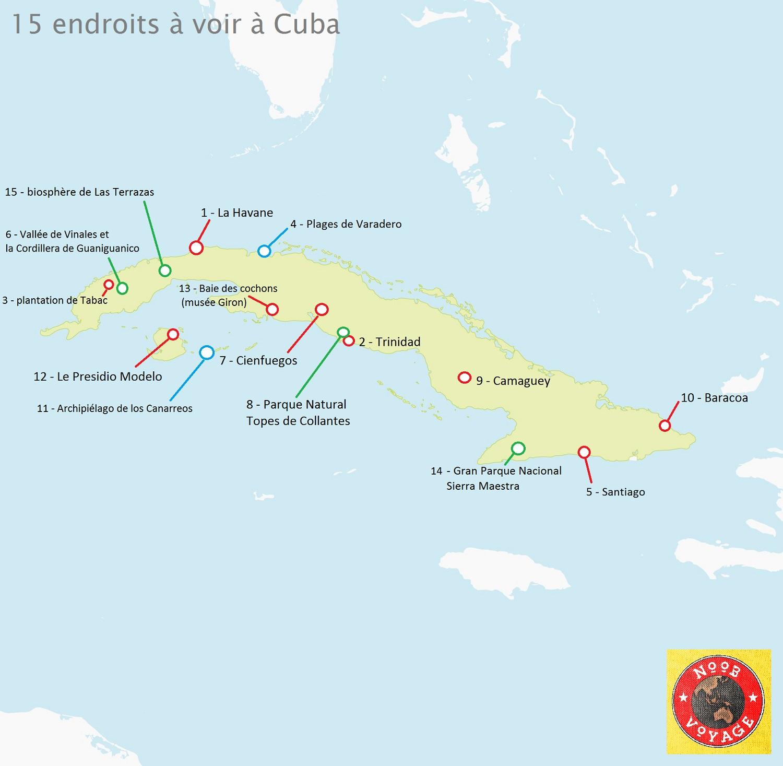 carte de tourisme cuba
