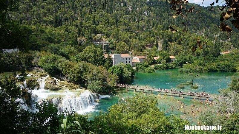 visiter parc national krka croatie