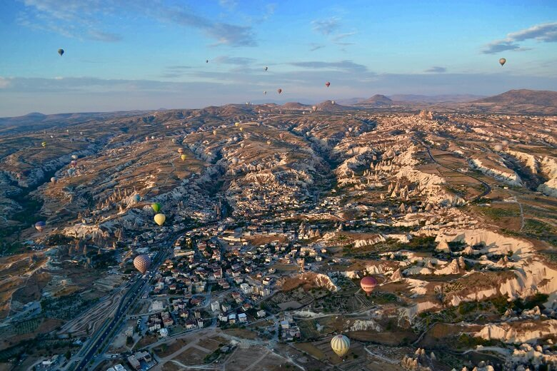 vol montgolfiere turquie cappadoce