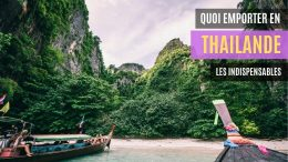 quoi emporter en thailande